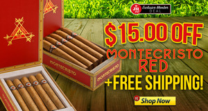 JR Plus Members Get $15.00 Off Montecristo Red!