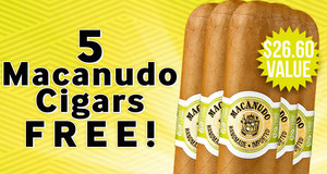 5 Macanudo Cigars Free