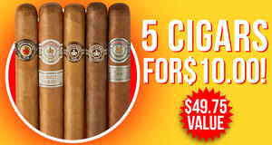 5 Cigars For $10.00