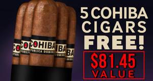 5 Cohibas Free