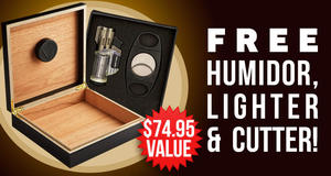 Humidor, Lighter, & Cutter Free