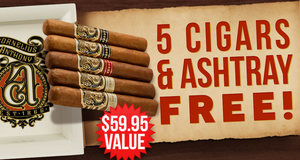 5 Cigars & Ashtray Free