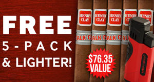 5-Pack & Lighter Free