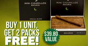 Get 2 Packs Free With Select Davidoff Cigarillos Unit!