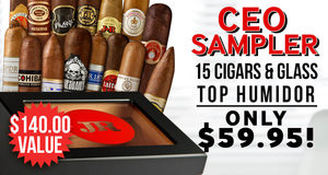 15 Cigars & Glass Top Humidor Only $59.95