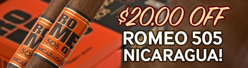 JR Plus Members Get $20.00 Off Romeo 505 Nicaragua!