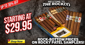 Rock-Bottom Prices On Select Rocky Patel Samplers!