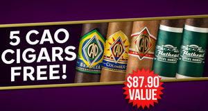 5 CAO Cigars Free