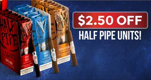 $2.50 Off Half Pipes