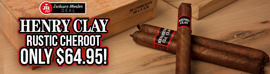 JR Plus Members Get A Box Of Henry Clay Rustic Cheroots For Just $64.95 + Free Shipping!