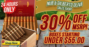 30% Off All Boxes Of Nub & Gilberto Today Only!