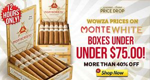 For 12 Hours Only, Save Over 40% On Monte White Boxes Of 10!