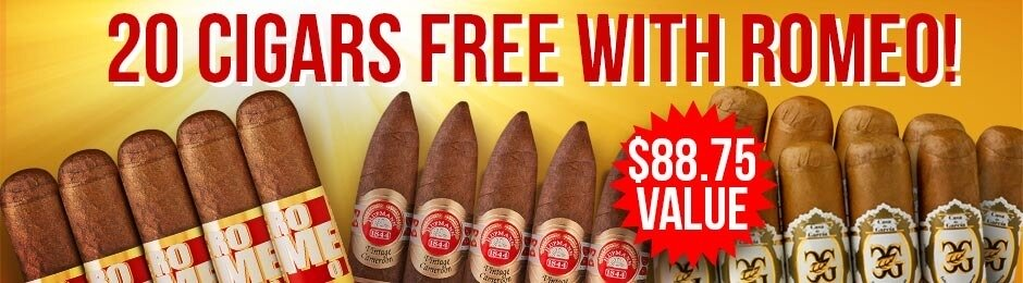 20-Pack Free With Select Romeo y Julieta Boxes