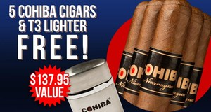 Cohiba 5-Pack & Lighter Free With Select Cohiba Boxes!