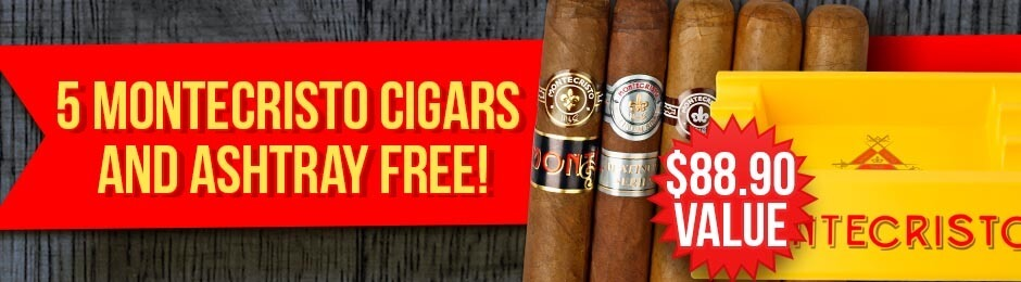 5-Pack & Ashtray Free With Select Montecristo Boxes!