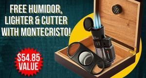 Humidor, Lighter, & Cutter Free