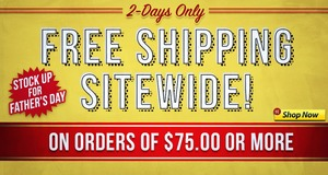 Free Shipping Sitewide On Orders Of $75.00 Or More!