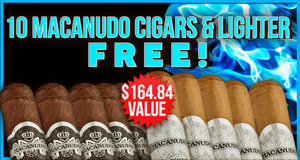 Macanudo 10-Pack & Lighter Free With Select Box Purchase!