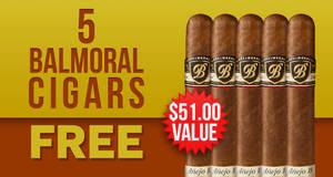 5-Pack Free With Balmoral Royal Selection Anejo 18 Boxes!