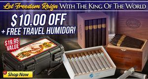 $10 Off + Free Humidor