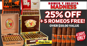 For 4 Days, Get 25% Off Romeo + A Free 5-Pack!