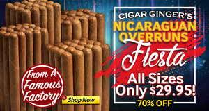Cigar Ginger's Nicaraguan Overrun Bundles Under $30.00!