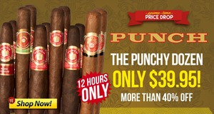 For 12 Hours, Get 12 Assorted Punch Cigars For Under $40.00!