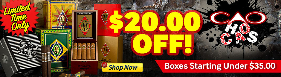 $20.00 Off CAO Boxes For A Limited Time Only!