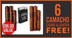 6 Cigars & Lighter Free