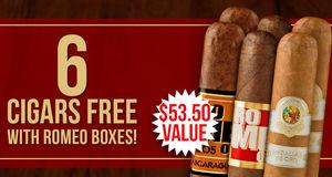 6 Romeo Cigars Free