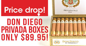 Price Drop! Don Diego Privada Boxes Only $89.95!