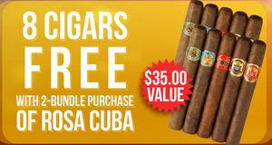 Buy 2, Get 8 Cigars Free