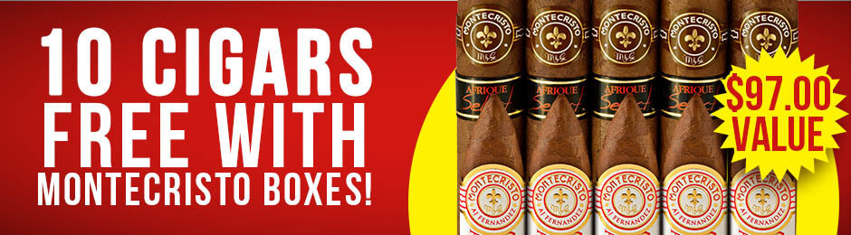 Montecristo 10-Pack Free With Box Purchase!