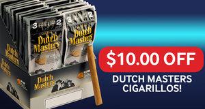 $10.00 Off Dutch Masters