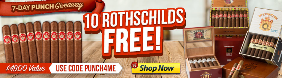10 Punch Rothschilds Worth $49.00 Absolutely Free!