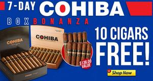 For 7 Days, Get 10 Cohiba Nicaraguans Absolutely Free!