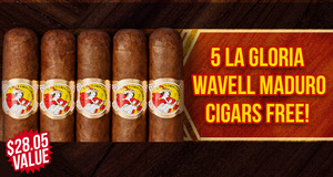 La Gloria Wavell Maduro 5-Pack Free With Box Purchase!