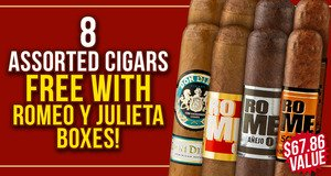 8-Pack Free With Romeo y Julieta Box Purchase!