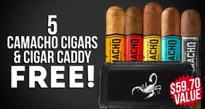 5-Pack + Humidor Free
