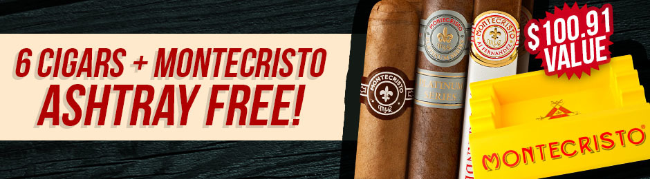 6-Pack + Ashtray Free With Montecristo Box Purchase!