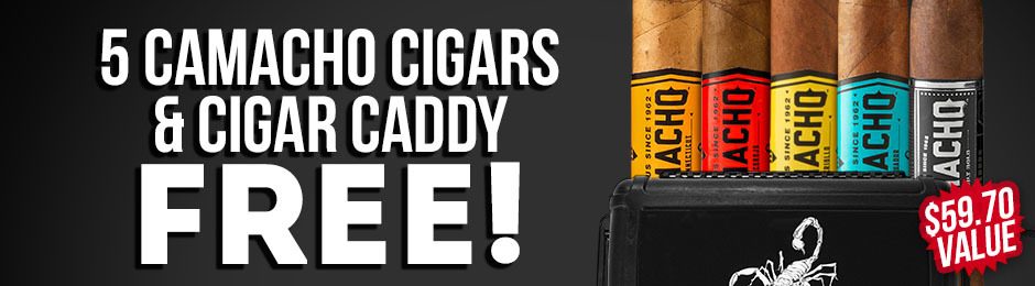 Camacho 5-Pack & Travel Humidor Free With Box Purchase!
