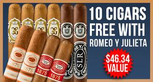 10-Pack Free With Romeo y Julieta Boxes!