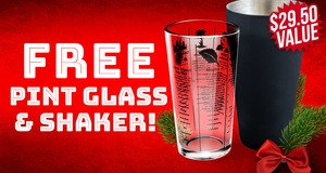 Pint Glass & Shaker Free