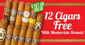 12-Pack Free With Select Montecristo Boxes!