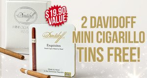2 Tins Free With Davidoff