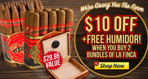 $10 Off 2 La Finca Bundles + Free Humidor Through Midnight!