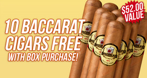 Baccarat 10-Pack Free With Box Purchase!