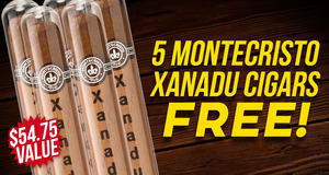 Montecristo 5-Pack Free With Box Purchase!