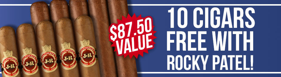 10-Pack Free With Rocky Patel Boxes!