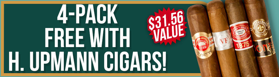 4-Pack Free With H. Upmann Boxes!